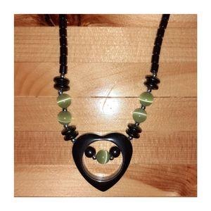 Hematite Grounding Necklace W/Cat's Eye Beads